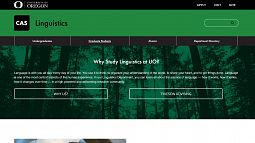Linguistics website screenshot